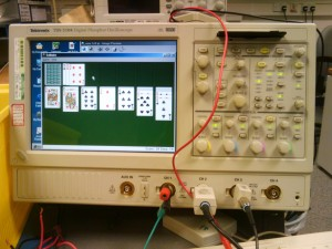 Solitaire on an Oscilloscope