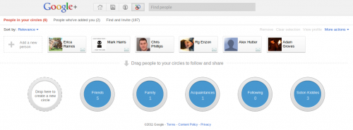 Google+ Circles Manager