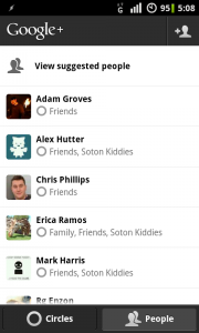 Google+ for Android - Friends & Circles