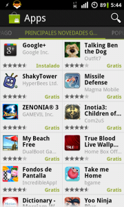 "Android Market - ""Top Free"" List"