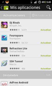 Android Market - My Apps