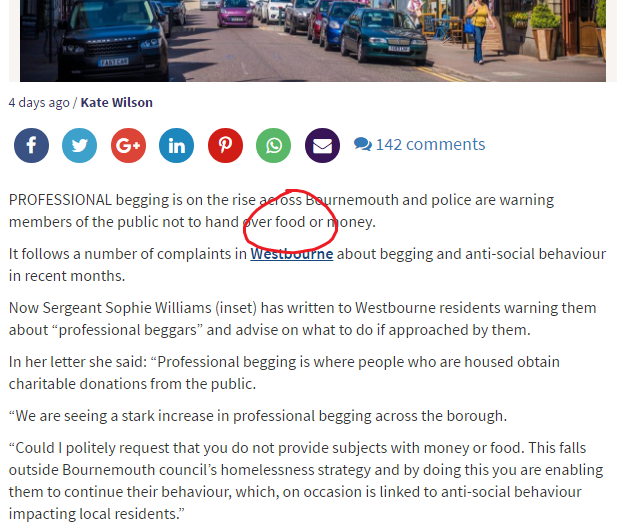Extract from linked Bournemouth Echo page