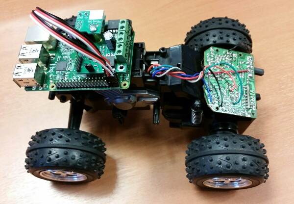 All-Terrain Pi electronics stack located on vehicle