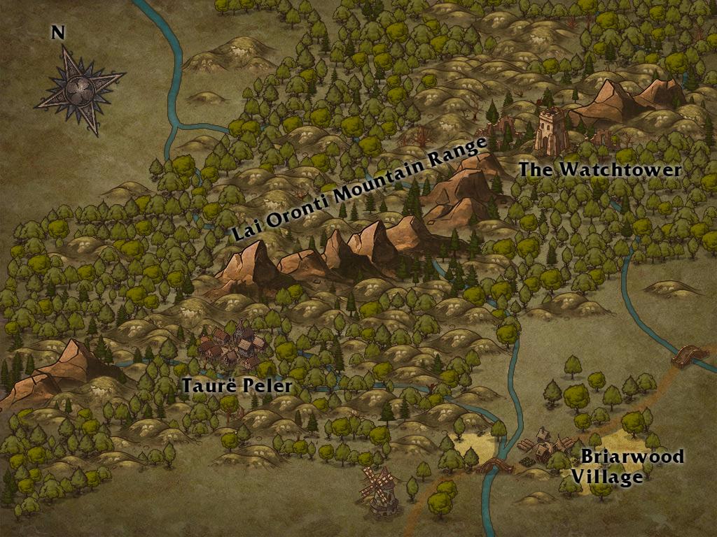 Map of Lai Oronti