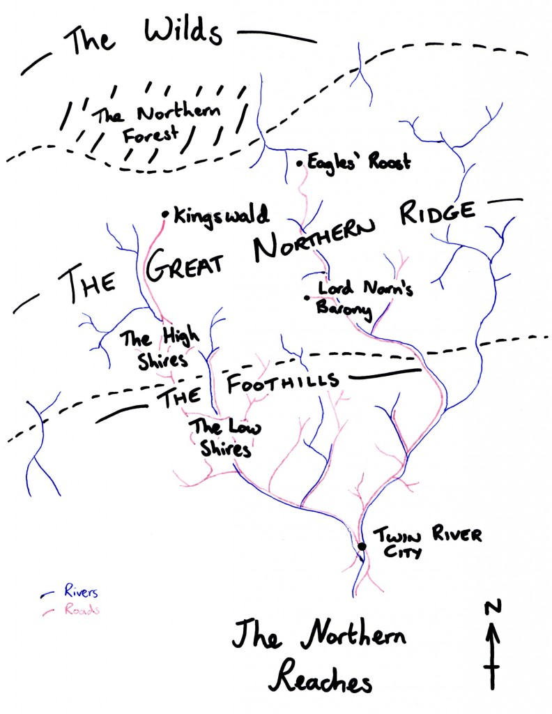 Map of the Northern Reaches